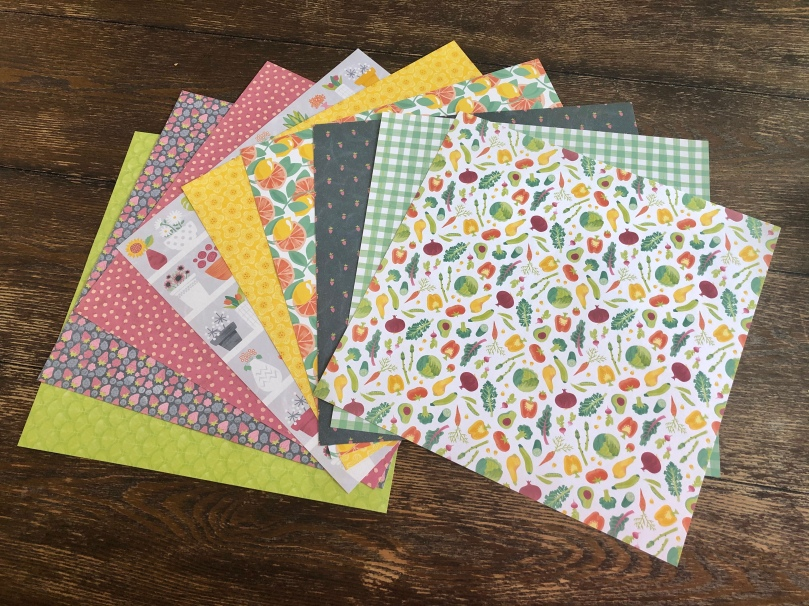 Creative Memories, Gardening, Locally Grown, Paper Pack, Scrapbook Paper
